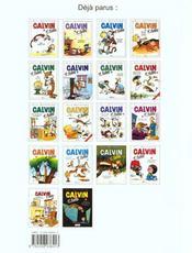 Calvin et Hobbes T.5 ; fini de rire ! - 4ème de couverture - Format classique