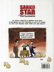 Sarko star & autres pantalonnades - 4ème de couverture - Format classique