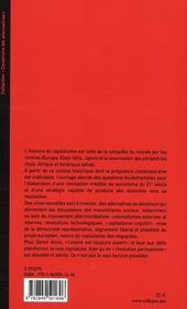Du capitalisme à la civilisation ; la longue transition - 4ème de couverture - Format classique