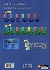 Processus 1 ; BTS 1 CGO ; gestion comptable des opérations commerciales ; livre de l'élève (édition 2008) - 4ème de couverture - Format classique