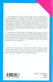 Centre Et Peripherie (2e Edition) - 4ème de couverture - Format classique