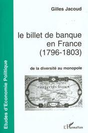 Le Billet De Banque En France 1796 1803 - Intérieur - Format classique