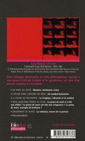 Réflexions sur la guillotine - 4ème de couverture - Format classique