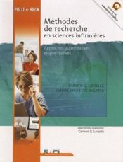 Méthodes de recherches en sciences infirmières - Couverture - Format classique