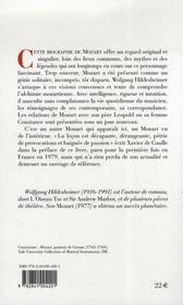 Mozart - 4ème de couverture - Format classique