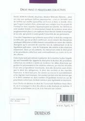 Droit prive et procedures collectives - 4ème de couverture - Format classique