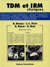 Tdm et irm cliniques - Couverture - Format classique