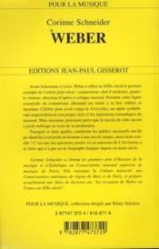 Weber - 4ème de couverture - Format classique