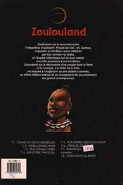 Zoulouland t.7 ; Shakazulu - 4ème de couverture - Format classique