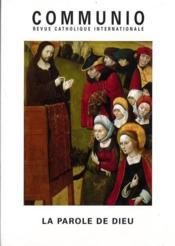 REVUE COMMUNIO N.156 ; la parole de Dieu - Couverture - Format classique