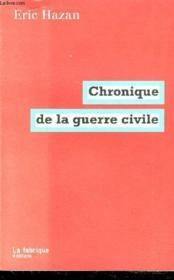Chronique de la guerre civile - Couverture - Format classique