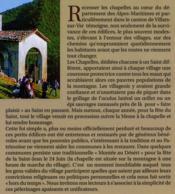 Les chemins de la tradition ; chapelles et oratoire au coeur du haut pays niçois - 4ème de couverture - Format classique