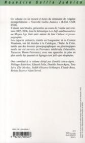 Les Juifs méditerranéens au Moyen-âge ; culture et prosopographie - 4ème de couverture - Format classique