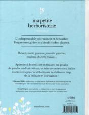 Ma petite herboristerie minceur - 4ème de couverture - Format classique