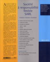 Société à responsabilité limitée - SARL (édition 2013/2014) - 4ème de couverture - Format classique