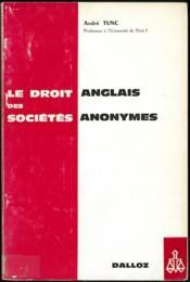 LE DROIT ANGLAIS DES SOCIÉTÉS ANONYMES, 2èmeéd.; Suppl. mise à jour au 1er septembre 1973 - Couverture - Format classique
