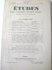 Etudes. Revue catholique d'intérêt général, paraissant le 5 et le 20 de chaque mois. (65e année, tome 197, n°20). - Couverture - Format classique