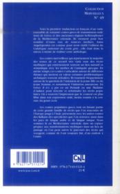 Contes de la nuit grecque ; une anthologie commentée - 4ème de couverture - Format classique