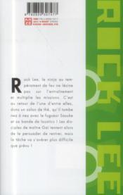 Rock Lee, les péripéties d'un ninja en herbe t.4 - 4ème de couverture - Format classique