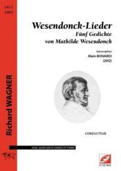 Wesendonck-lieder ; fünf gedichte von Mathilde Wesendonck - Couverture - Format classique