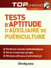 Tests d'aptitude d'auxiliaire de puériculture (4e édition) - Couverture - Format classique