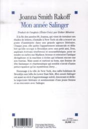 Mon année Salinger - 4ème de couverture - Format classique