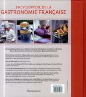 Encyclopédie de la gastronomie francaise - 4ème de couverture - Format classique