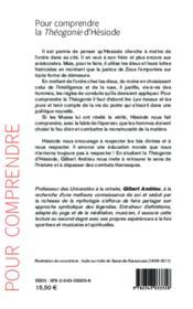 La théogonie d'Hésiode - 4ème de couverture - Format classique