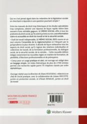 Le mémo social 2015 ; travail et emploi ; sécurité sociale ; retraite (31e édition) - 4ème de couverture - Format classique