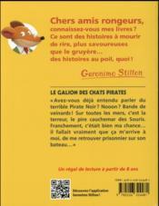 Geronimo Stilton T.2 ; le galion des chats pirates - 4ème de couverture - Format classique