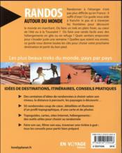 Randos autour du monde (3e édition) - 4ème de couverture - Format classique