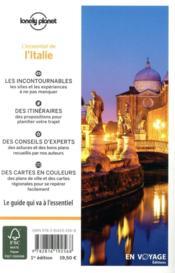 Italie (édition 2021) - 4ème de couverture - Format classique