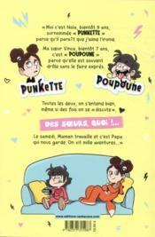 Punkette & Poupoune ; les samedis z'électriques - 4ème de couverture - Format classique