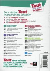 Tout le diplôme infirmier ; IFSI ; + de 600 fiches illustrées (2e édition) - 4ème de couverture - Format classique