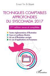 Techniques comptables approfondies du syschohada 2017 (2e édition) - Couverture - Format classique