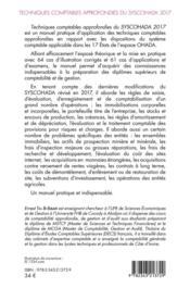 Techniques comptables approfondies du syschohada 2017 (2e édition) - 4ème de couverture - Format classique