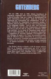 Gutenberg - 4ème de couverture - Format classique