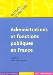 Administrations et fonctions publiques en France - Intérieur - Format classique