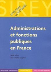 Administrations et fonctions publiques en France - Couverture - Format classique