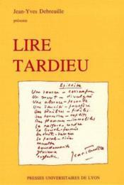 Lire Tardieu - Couverture - Format classique