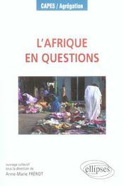 L'afrique en questions - Intérieur - Format classique