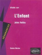 Etude Sur L'Enfant Jules Valles - Intérieur - Format classique