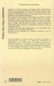 Plus Beant Que Le Temps - 4ème de couverture - Format classique