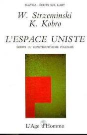L'Espace Uniste - Couverture - Format classique