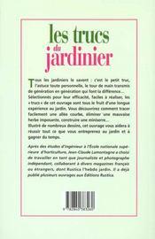 Les Trucs Du Jardinier - 4ème de couverture - Format classique