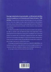 Dictionnaire De Dieu - 4ème de couverture - Format classique