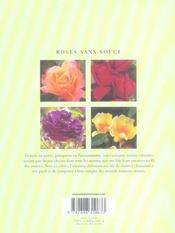 Roses sans souci (100 idees jardin) - 4ème de couverture - Format classique