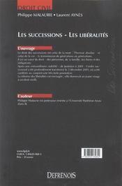 Successions (les) - 4ème de couverture - Format classique