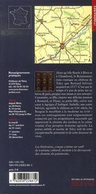 Le château de talcy, une demeure poétique - 4ème de couverture - Format classique