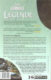 Le cycle de Drenaï ; légende - 4ème de couverture - Format classique